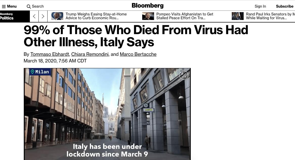 Coronavirus 101 Bloomberg